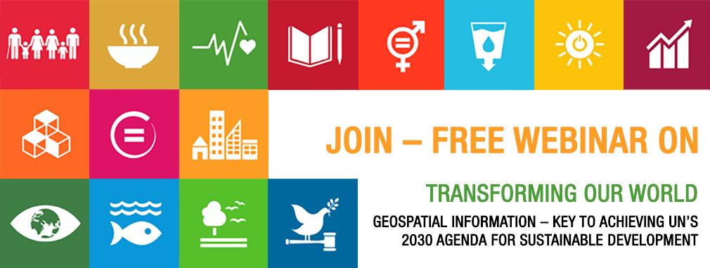 Free Geospatial Webinar - Geospatial earth observation UN 2030 agenda DigitalGlobe